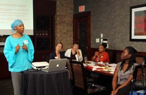 Hanan presents her concepts at one of Marketing Matters Strategy Sessions.