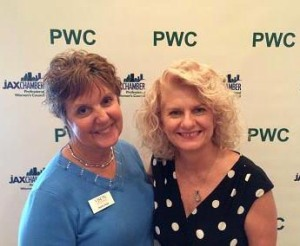 Marie with Jeannie Fredrick of the Professional Women's Council on the day she was nominated for the JAX Chamber's 2015 Small Business Leader of the Year.